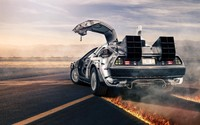 DeLorean time machine wallpaper 1920x1200 jpg