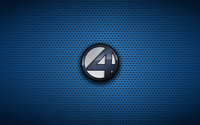 Fantastic Four logo on dotted pattern wallpaper 1920x1080 jpg