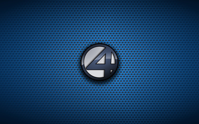 Fantastic Four logo on dotted pattern wallpaper