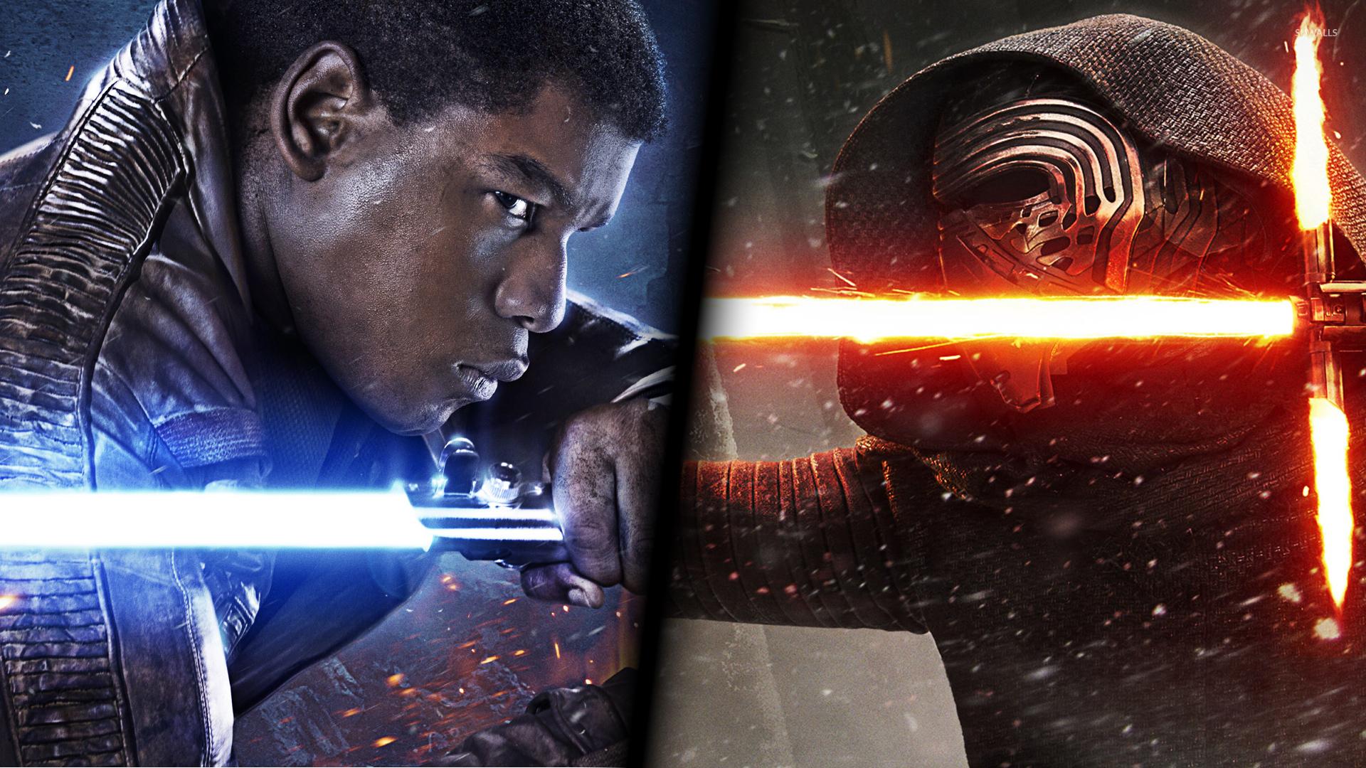 Finn Vs Kylo Ren In Star Wars The Force Awakens Wallpaper Movie Wallpapers 51508