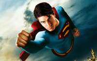 Flying Superman wallpaper 1920x1200 jpg