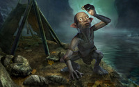 Gollum holding One Ring - The Lord of the Rings wallpaper 1920x1080 jpg