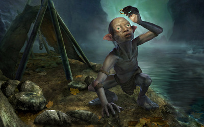 Gollum holding One Ring - The Lord of the Rings wallpaper
