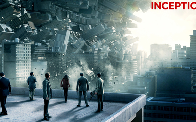 Inception - falling buildings wallpaper