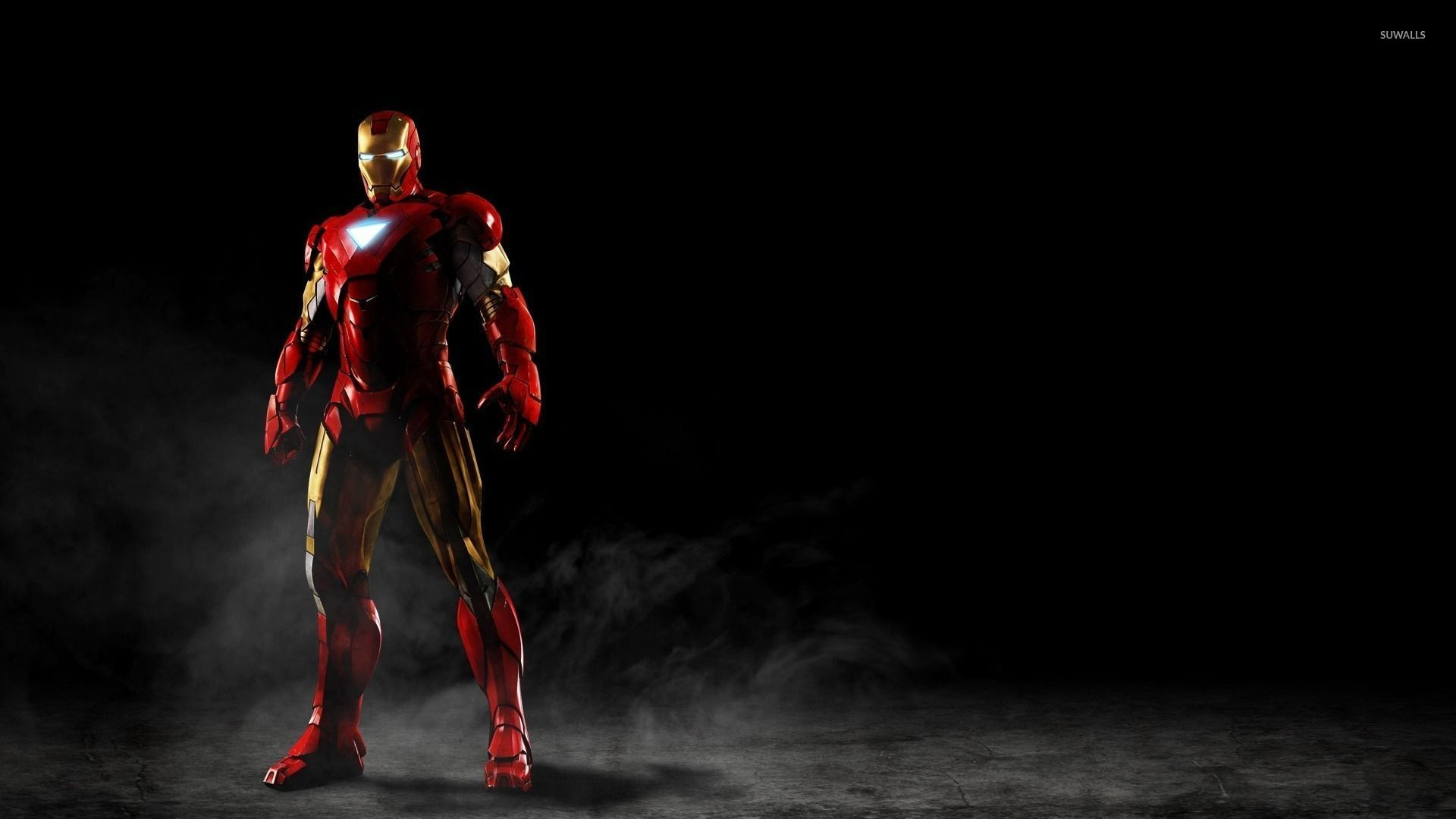 Iron Man Standing In The Smoke Wallpaper