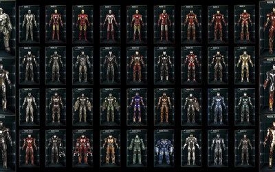 Iron Man suits wallpaper