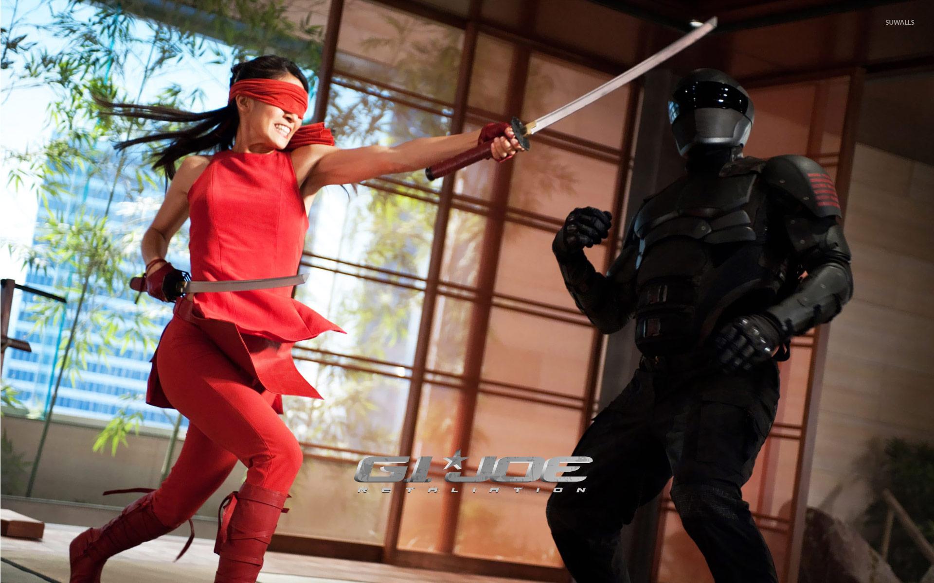 jinx and snake eyes - g.i. joe: retaliation wallpaper - movie