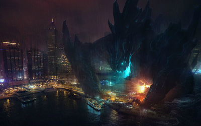 Kaiju in Pacific Rim wallpaper