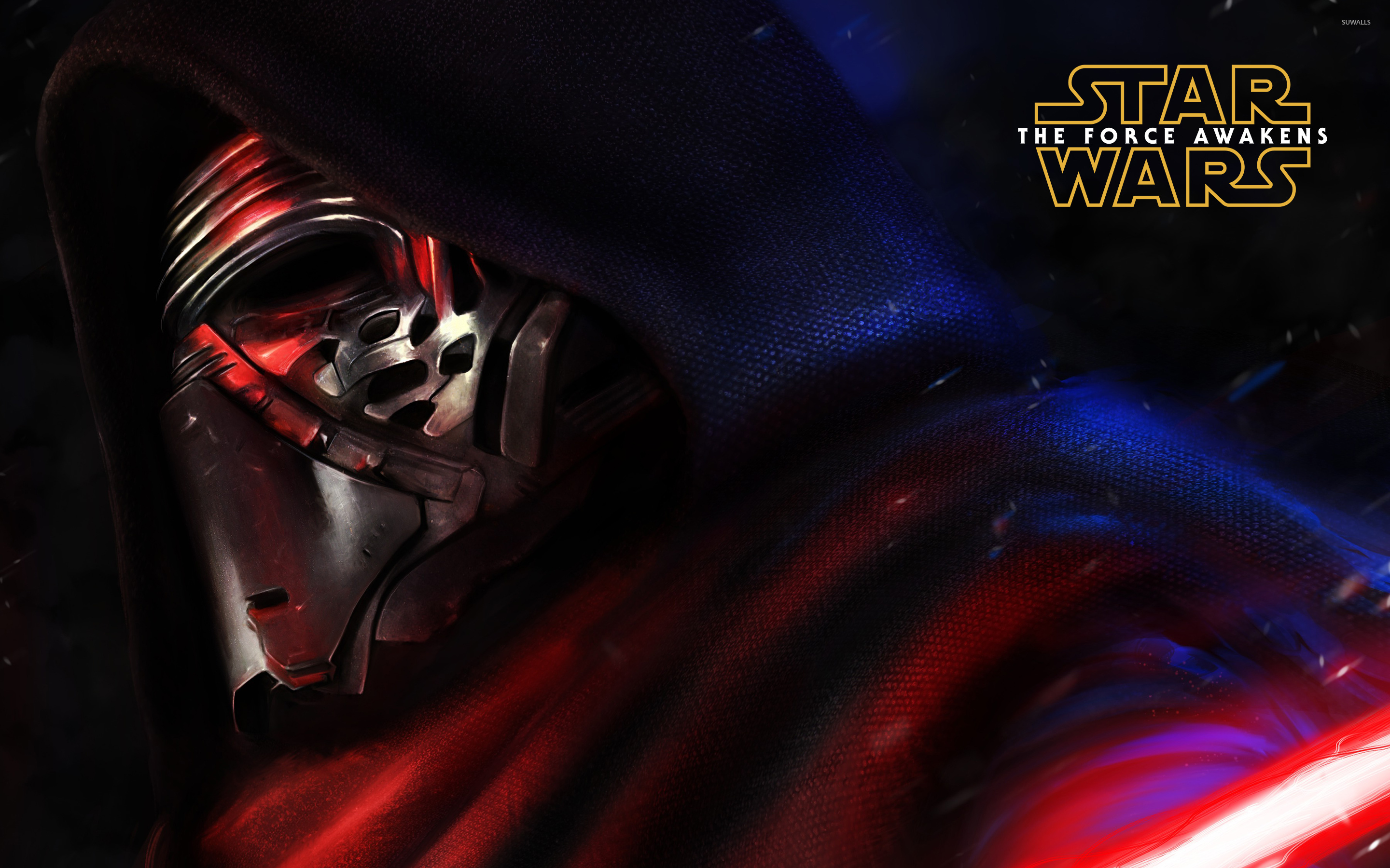 Kylo Ren Close Up Star Wars The Force Awakens Wallpaper Movie
