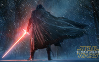 Kylo Ren in the snowy night - Star Wars: The Force Awakens wallpaper 3840x2160 jpg