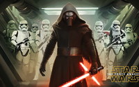 Kylo Ren with stormtroopers - Star Wars: The Force Awakens wallpaper 3840x2160 jpg