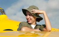 Lara - Sky. Plane. Girl wallpaper 2560x1600 jpg