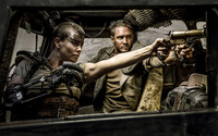 Max Rockatansky and Imperator Furiosa - Mad Max: Fury Road wallpaper 2880x1800 jpg