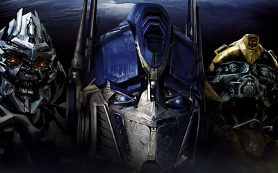Megatron, Optimus Prime  and Bumblebee - Transformers wallpaper