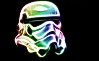Neon Stormtrooper helmet - Star Wars wallpaper 1920x1200 jpg