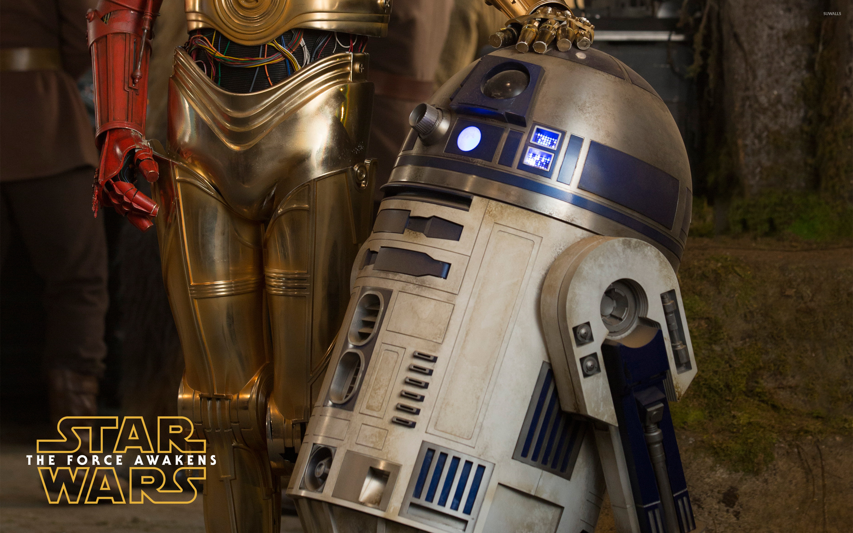 R2-D2 in Star Wars: The Force Awakens wallpaper