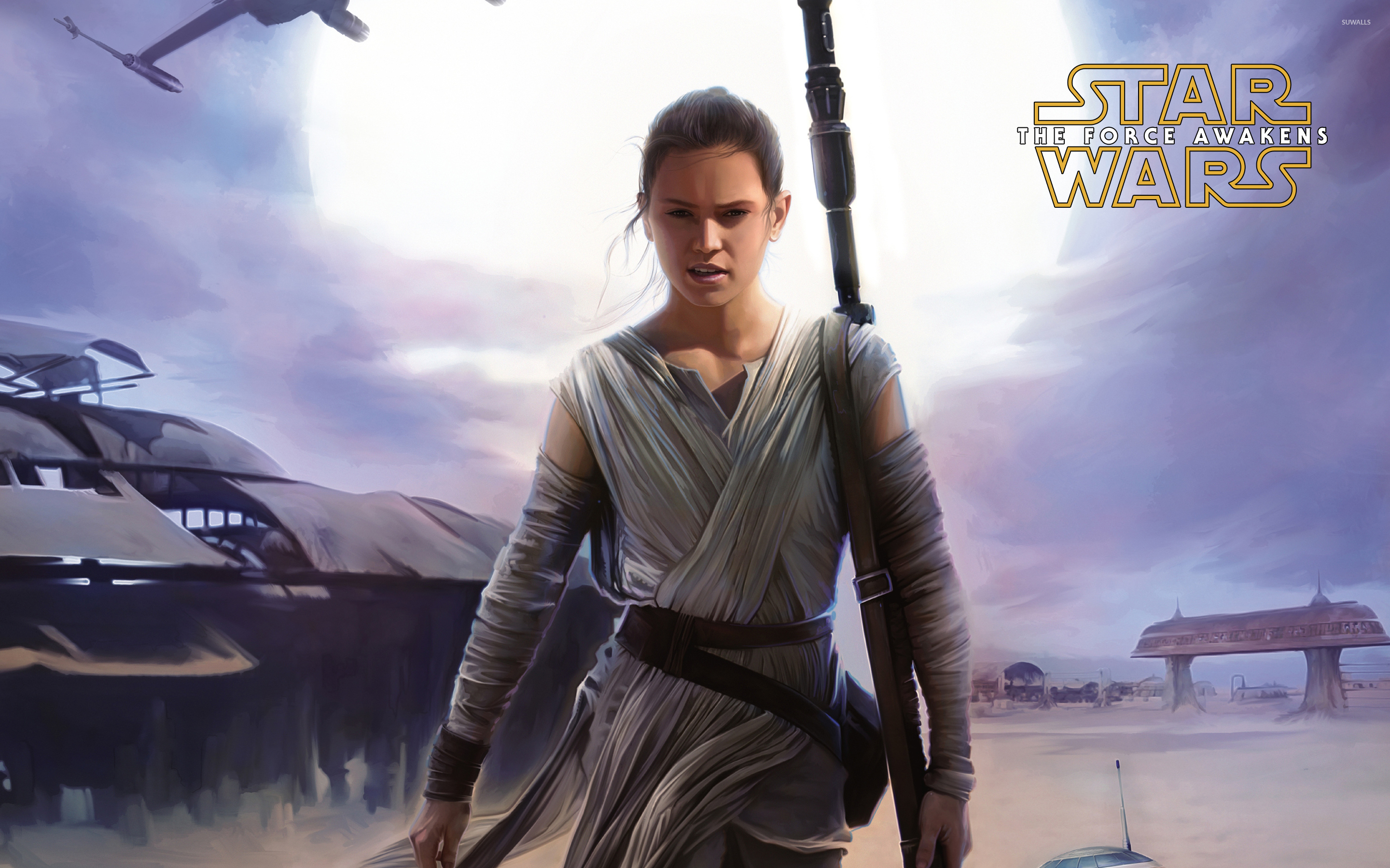 Rey in Star Wars: The Force Awakens wallpaper