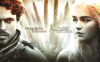 Robb Stark and Daenerys Targaryen wallpaper