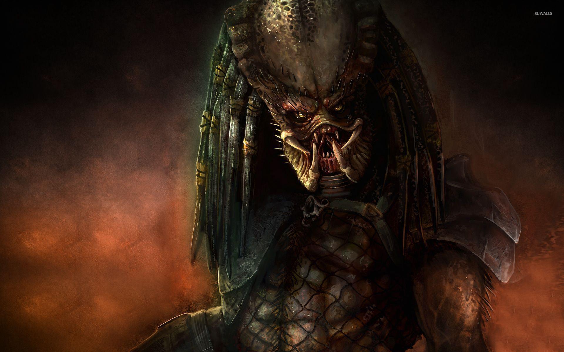 Scary predator wallpaper movie wallpapers 52784 scary predator wallpaper voltagebd Choice Image