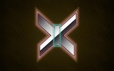 Silver X-Men logo wallpaper