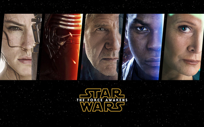 Star Wars: The Force Awakens main characters wallpaper