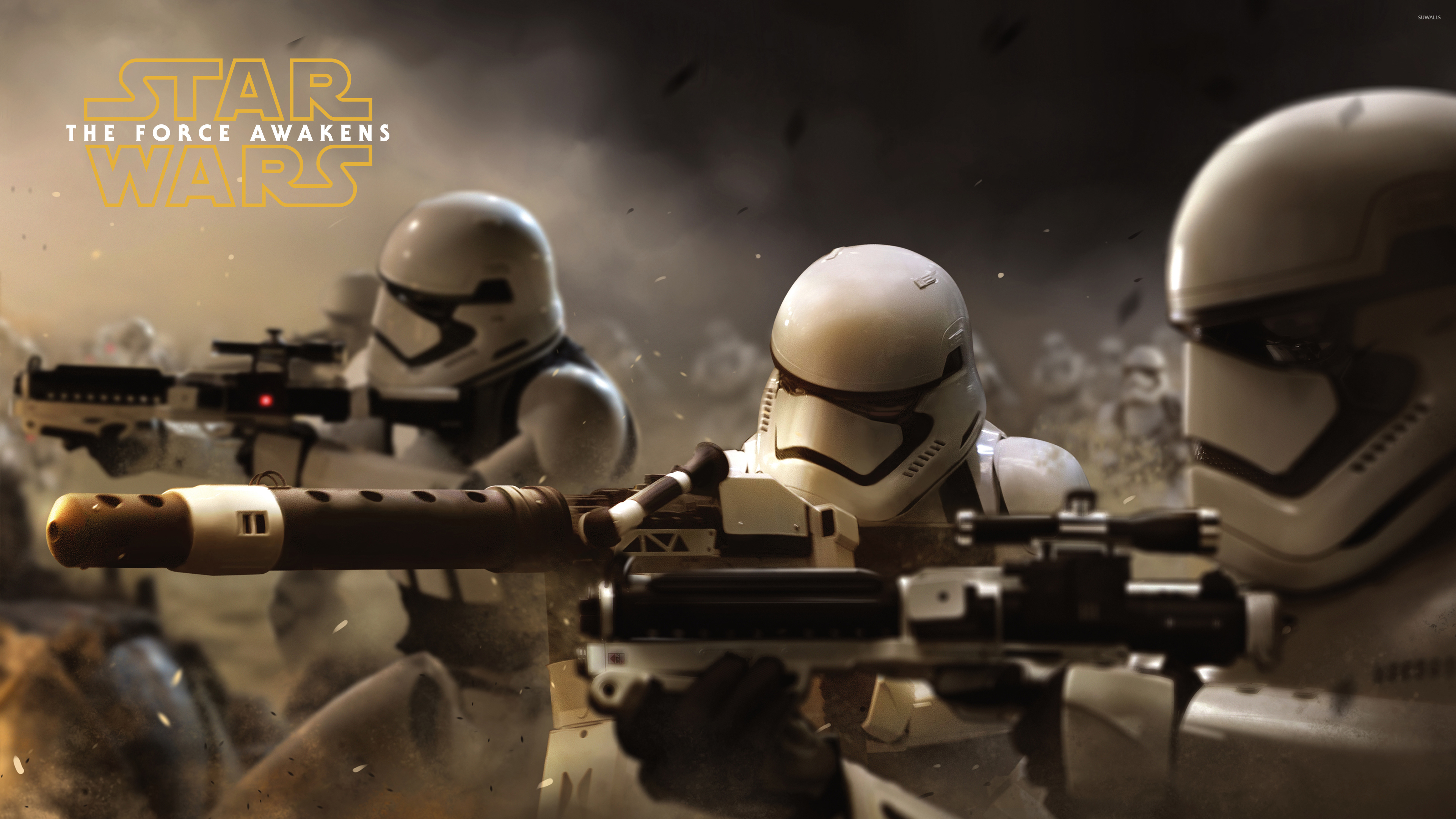 Stormtroopers In Star Wars The Force Awakens Wallpaper Movie