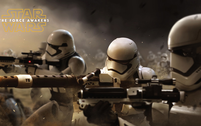 Stormtroopers in Star Wars: The Force Awakens wallpaper
