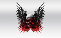The Expendables 2 skull and guns wallpaper 1920x1080 jpg