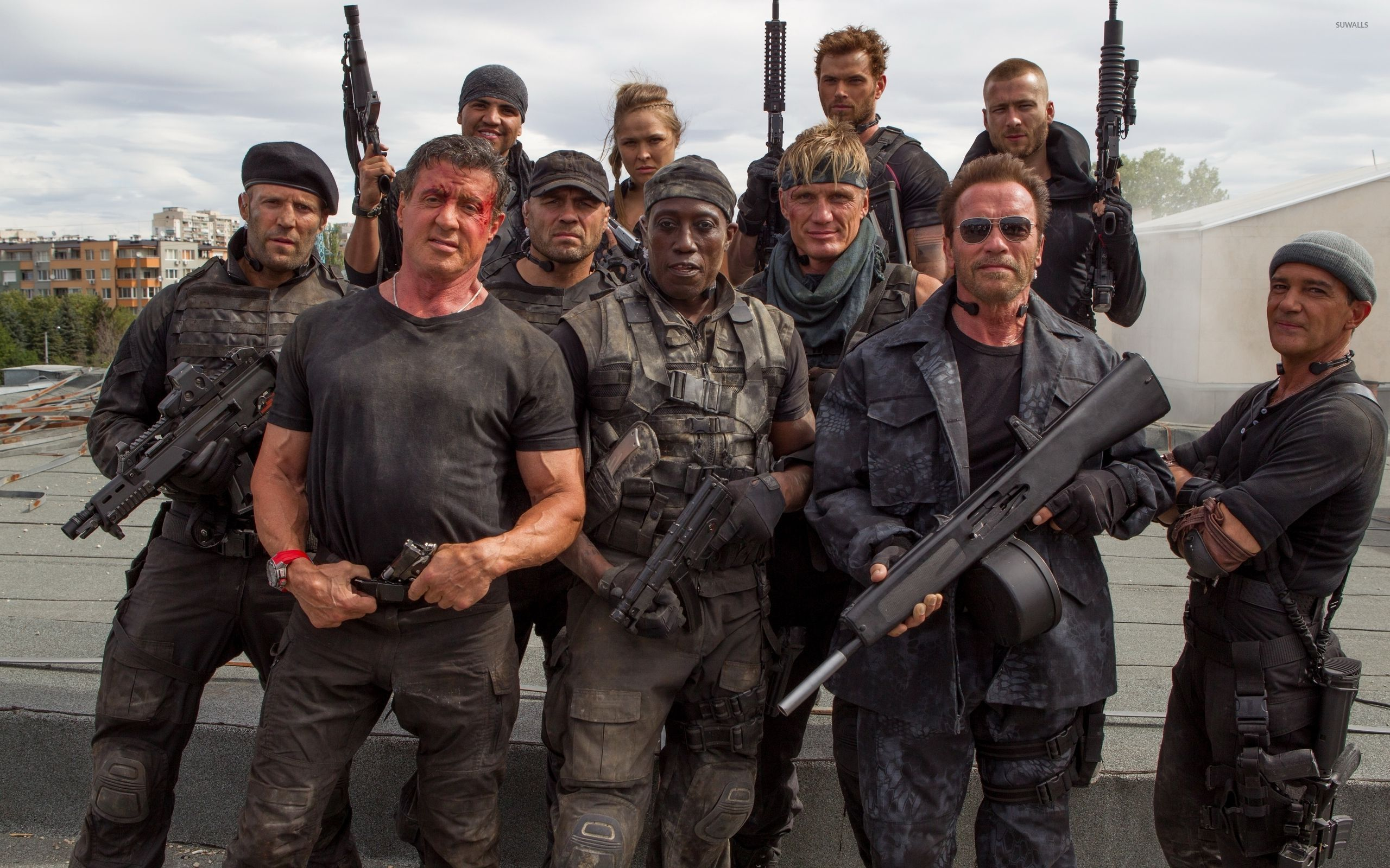 The Expendables 3 main characters wallpaper - Movie