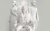 The Hunger Games: Mockingjay statues wallpaper 2560x1440 jpg