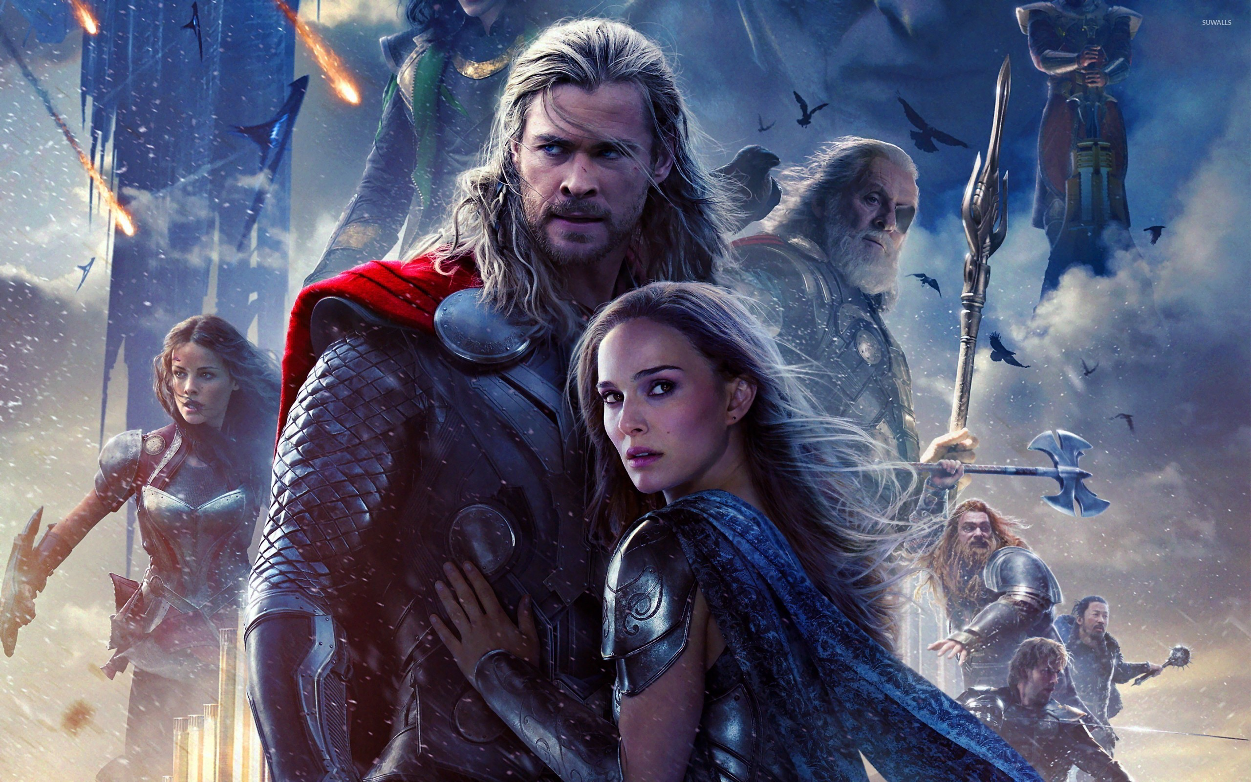 Thor And Jane Foster Thor The Dark World Wallpaper Movie