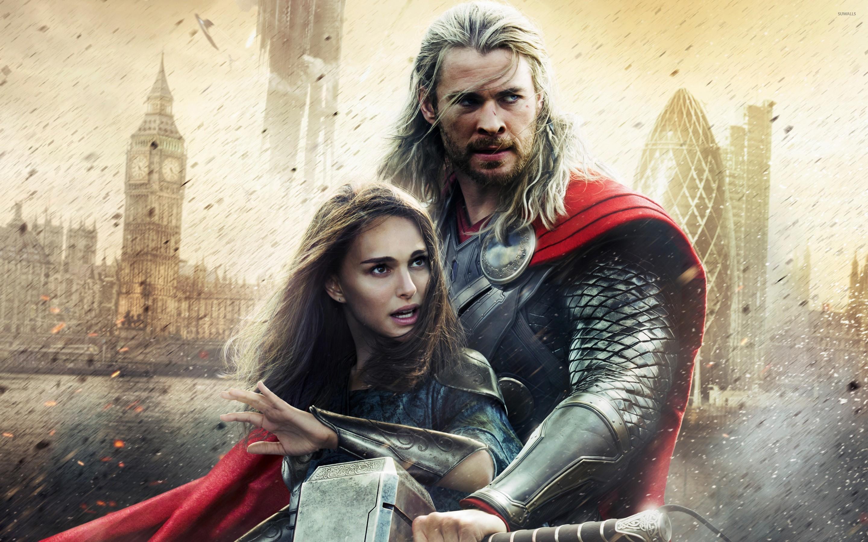 Thor And Jane Foster Thor The Dark World 2 Wallpaper Movie