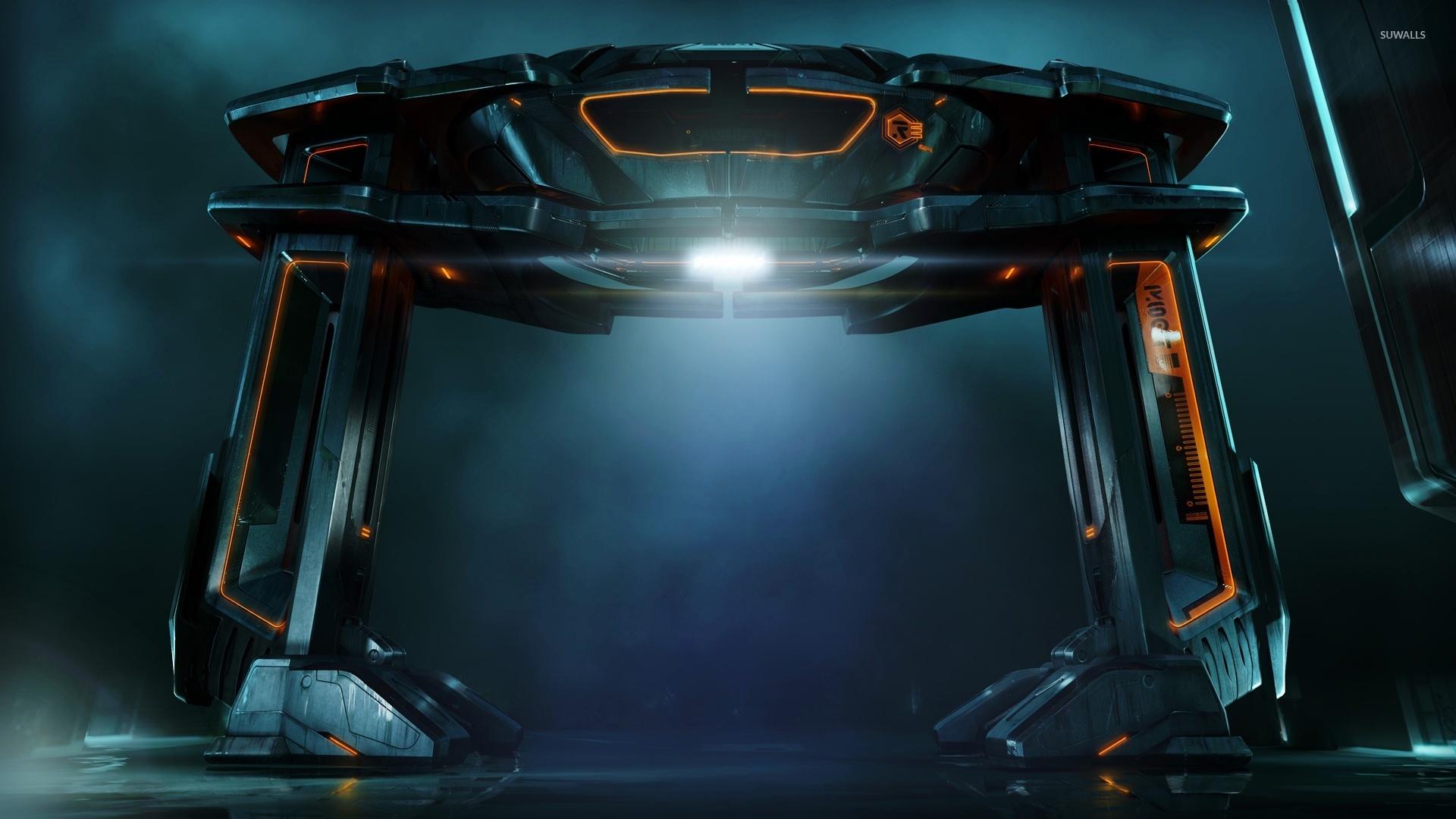 Tron: Legacy ship wallpaper
