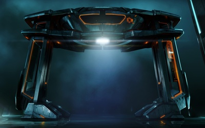 Tron: Legacy ship wallpaper