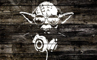 Yoda wood graffiti wallpaper 1920x1200 jpg