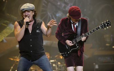 Brian Johnson and Angus Young wallpaper