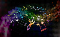 Colorful musical notes wallpaper 1920x1080 jpg