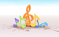 Colorful musical notes [2] wallpaper 1920x1200 jpg