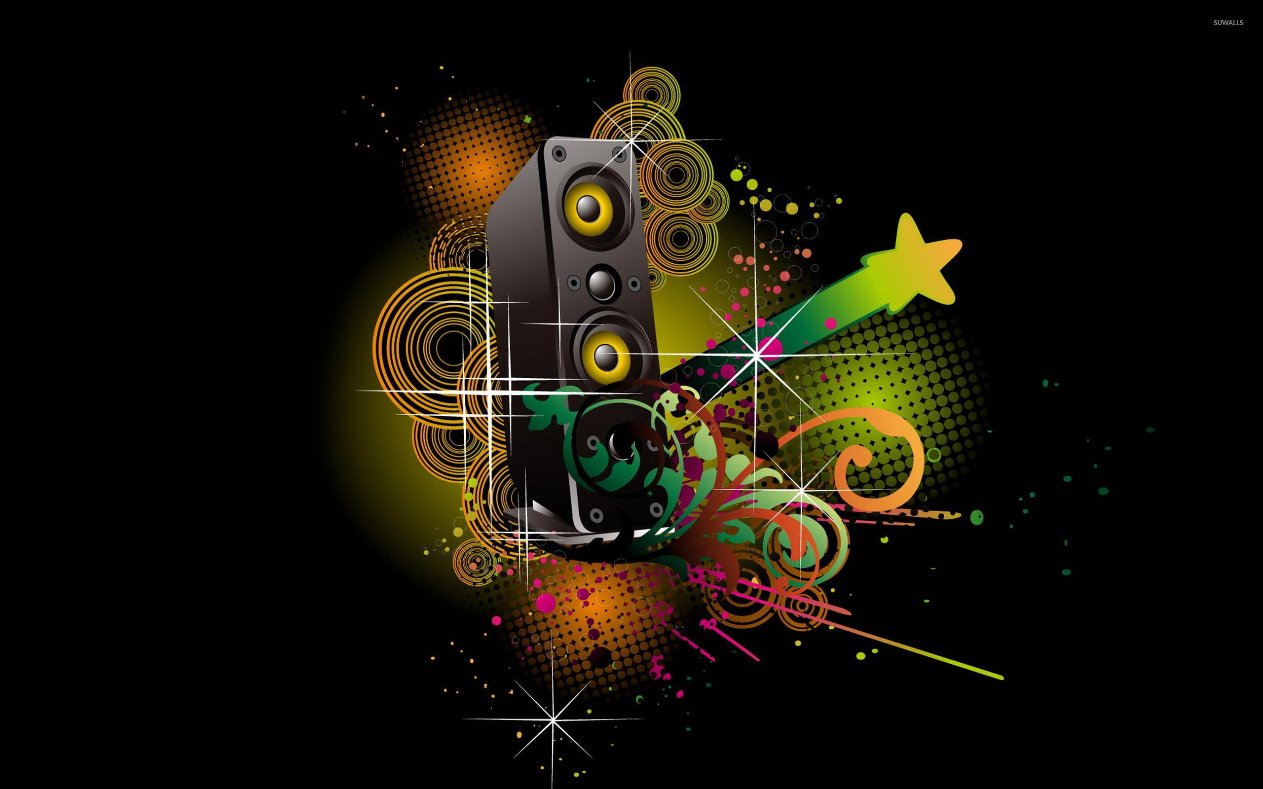 colorful speaker wallpaper music wallpapers 17310