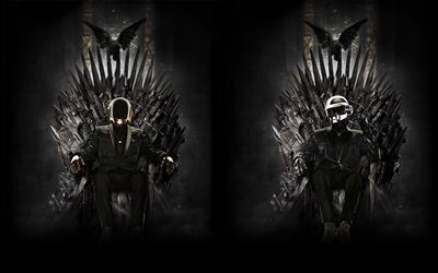 Daft Punk on the Iron Throne wallpaper