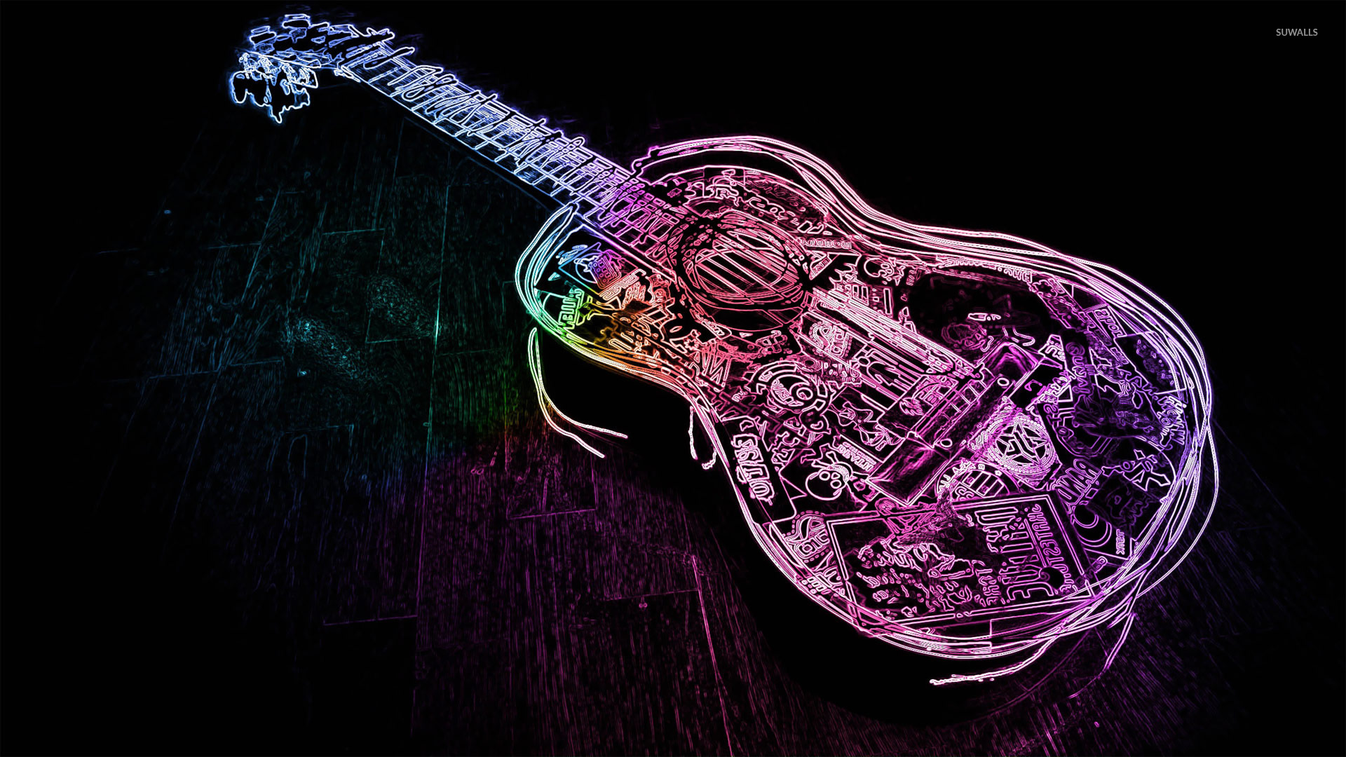 Good Wallpaper Music Purple - glowing-neon-guitar-outline-19107-1920x1080  Trends_651046.jpg