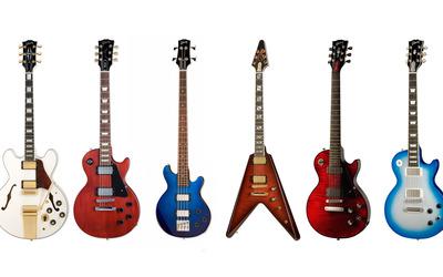 Guitar collection wallpaper