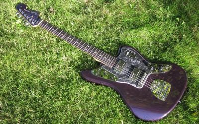 Guitar on the grass wallpaper