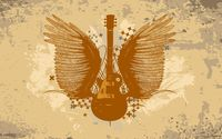 Guitar with wings wallpaper 1920x1200 jpg
