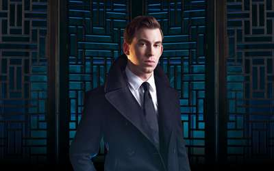 Hardwell with a black tie wallpaper