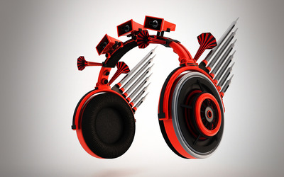 Headphone with speakers wallpaper