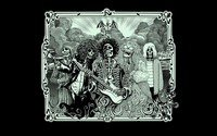 Jimi Hendrix, Kurt Cobain, Jim Morrison, Janis Joplin wallpaper 1920x1200 jpg