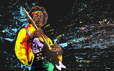 Jimi Hendrix Painting wallpaper