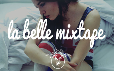 La Belle Mixtape with a girl in the bed wallpaper
