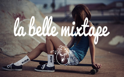 La Belle Mixtape with a skateboarder girl wallpaper